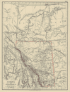 ATHABASCA & ALBERTA Province map w/ Canadian Pacific Railroad. JOHNSTON 1901